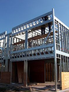 Metal Building Kits, Steel Building Homes, Building A House, Steel Frame House, Steel House, Steel Framing, Steel Barns, Corrugated Roofing, Casas Containers