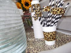 Welcome to the Jungle  Party Straws  Set of 25 by QuiltedPolkaDot, $12.00