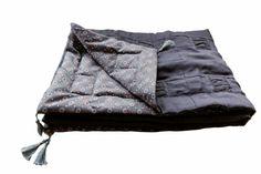 Lniana narzuta comforter patchwork dla dziecka - dom artystyczny patchwork patchworki wystrój wnętrz tkaniny