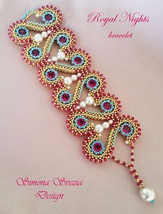 Tutorial ROYAL NIGHTS bracelet by PerlineeBijoux on Etsy