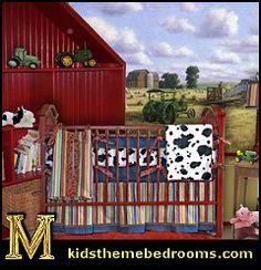 country baby bedding | create a fun john deere theme nursery - farm animal stickups, farm ...