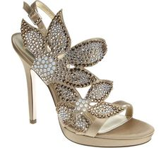 Gold Rhinestone Heels for your wedding day #shaadibazaar #shoes #bling