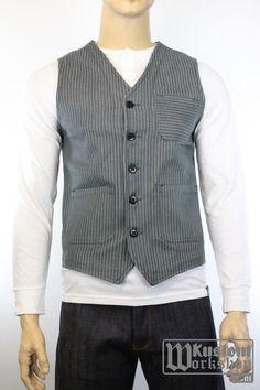 Roamer Vest wabash grey Pike Brothers | Veste rayée Roamer Pike Brothers | boutique Pike Brothers