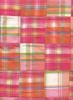 Madras--a madras windbreaker was my favorite piece of clothing