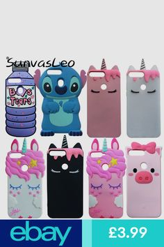 buy popular 58e10 d42a8 3D Cartoon Disney Silicone Soft Kids Cover Case For Huawei Y7 2018 ...