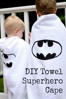 DIY Beach Towel Superhero Capes