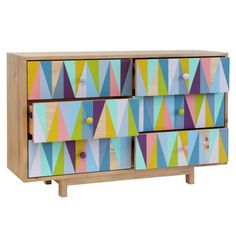 Recycled Timber Six Drawer Multi