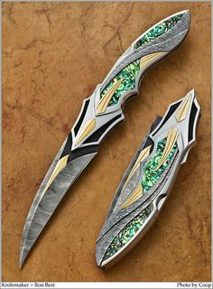 Knifemaker Ronald Best from 2013 Blade Show - Art, Classics, and Community - CKCA Forums weapon Pretty Knives, Cool Knives, Swords And Daggers, Knives And Swords, Armas Ninja, Fantasy Weapons, Lame, Guns, Cool Stuff