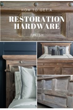 Easy step by step tutorial and video. Get a Farmhouse Style Finish in 3 Simple Steps. Restoration Hardware Dining Table, Restoration Hardware Furniture, Home Decor Furniture, Furniture Makeover, Paint Furniture, Repainting Furniture, Modern Furniture, Furniture Design, Restauration Hardware