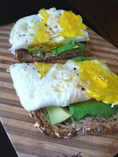 Egg & Avocado Breakfast Sandwhich. doing this one right now for lunch.