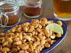 Chile and Lime Cashews for a Fourth of July Snack>> www.hgtv.com/holidays-and-entertaining/easy-fourth-of-july-recipes-and-cocktails/pictures/page-7.html?soc=pinterest