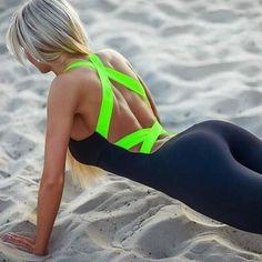 Women's Fitness Wear Stretch Jumpsuit #FitnessWear