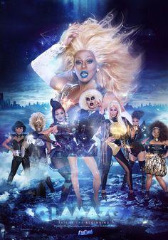 RuPaul's Drag Race - LOVE the blue lips