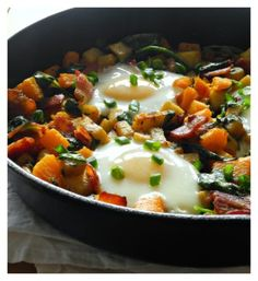 Paleo Sweet Potato Hash with Bacon and Butternut