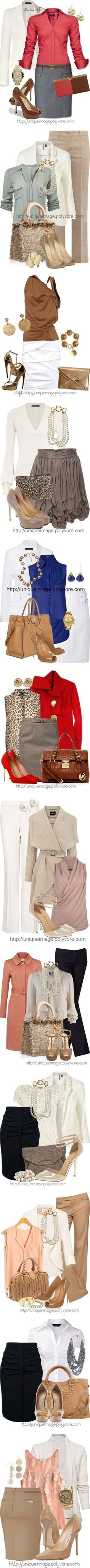 """""""Simply Classy..Grown Women attire""""love the blue and khaki...ohh..."""