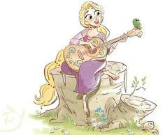 Rapunzel and Pascal Disney Princess Rapunzel, Disney Tangled, Disney Love, Disney Princesses, Arte Disney, Disney Magic, Jack Frost, Rapunzel And Eugene, Pixar
