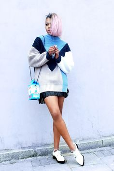 "sweater and ""milk"" bag 