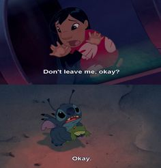 Lilo and stich;) one of my favorite disney movies Disney Pixar, Walt Disney, Disney Memes, Disney Quotes, Cute Disney, Disney And Dreamworks, Disney Animation, Disney Magic, Disney Parody