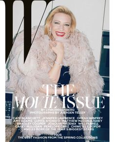 A radiant Cate Blanchett in #Armani Privè on the cover of W Magazine's February 2014 issue.