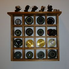 "The Naturalist's Angle: ""D.I.Y."" Fly reel shelf"