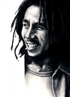 bob marley reggae rasta digital portrait design illustration cool unique painting drawing art icon king