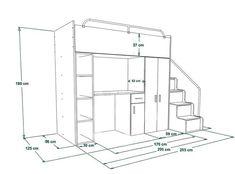 Loft Beds For Small Rooms, Small Room Design Bedroom, Loft Beds For Teens, Bathroom Interior Design, Cute Bedroom Ideas, Room Ideas Bedroom, Cool Girl Bedrooms, Mini Closet, Bunk Bed Plans