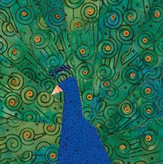Peacock Applique | Download and print full-size foundation patterns for Peacock's Glory ...