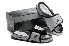 Cheap Air Jordans 14 Massage Slippers White Black New Jordans Shoes b980e23d0