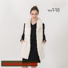 BFFUR 2017 New Arrival 100% Real Mink Fur Vest Winter Waistcoat Women real Fur Vest With Pocket Mink Fur Coat for Women BF-C0475