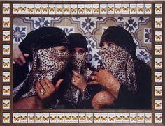 Hassan  Hajjaj, Gossiping, 2000, Digital type C photographs, wood, match boxes, 66 x 86.5 cm
