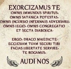 To exorcise any demon.