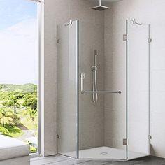 VIGO Piedmont 40 x 40-in. Frameless Neo-Angle Shower Encl...