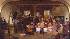 The Slave Auction, Virginia - Lefevre James Cranston (1822-1893)