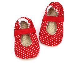 Buy Now red polka dot mary jane baby shoes  baby girl shoes...