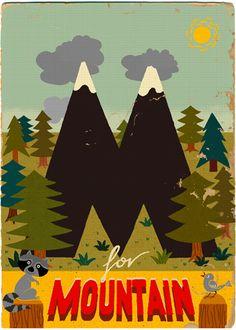 M is for Mountain - Paul Thurlby's 'retro modern' alphabet