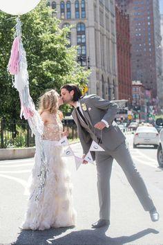 Sex and the City NYC style elopement / Cyrience Photography      #wedding #weddings #weddingideas #weddinginspiration #weddingflowers #weddingcake #vintagewedding #gorgeous #bride #groom www.gmichaelsalon.com