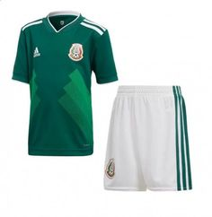 7752945eb61c MEN S MEXICO 2018 World Cup HOME SOCCER JERSEY KIT SHIRT+SHORT