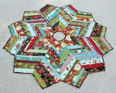 christmas quilting | quilt christmas tree skirt