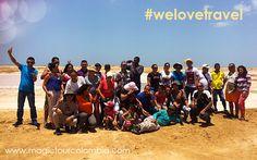 Toda la Familia Magic Tour en la Guajira/Colombia!. Demostrando lo importantes que son para nosotros! #welovetravel
