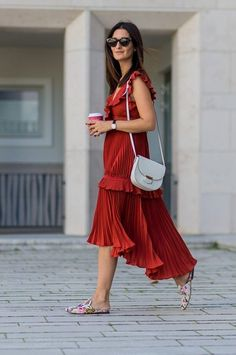 With Valentine's Day just around the corner, it can be fun to embrace the tried-and-true casual look with a good red ruffle dress.
