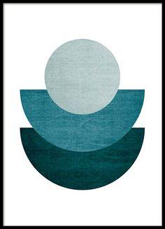 Halfmoon blue Poster in de groep Posters / Afmetingen / 50x70cm bij Desenio AB (8998)