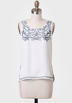 Sailing In Cannes Embroidered Blouse at #Ruche @Ruche