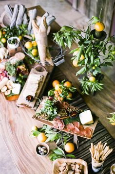The Perfect Charcuterie Spread ( and other antipasti) from Nancy Neil & Ayda Robano at stylemepretty Charcuterie Spread, Charcuterie Board, Charcuterie Cheese, Charcuterie Wedding, Charcuterie Display, Party Platters, Cheese Platters, Antipasto, Antipasti Platter
