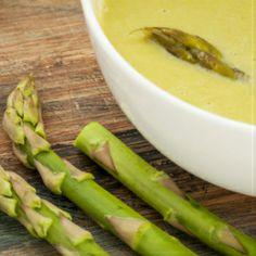 Koude aspergesoep zonder room, met zoute ham ♥ Foodness - good food, top products, great health