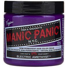 Manic Panic Electric Amethyst hair dye, purple hair dye, Manic Panic... ($16) ❤ liked on Polyvore