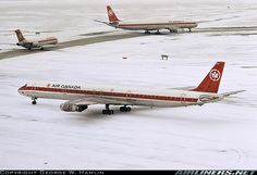 2 Air Canada Douglas DC-8-72s and a DC-9-32