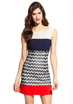 Max and Cleo colorblock Ava dress