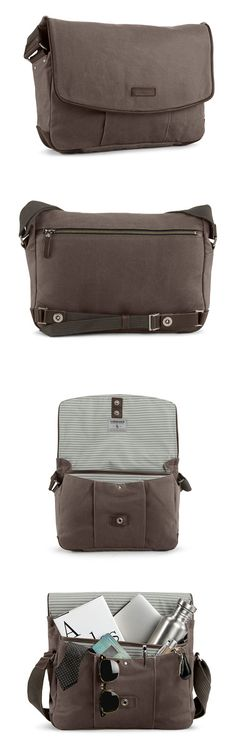 Timbuk2 Proof Laptop Messenger Bag (Distilled Collection) - Waxed Canvas with Leather Trim