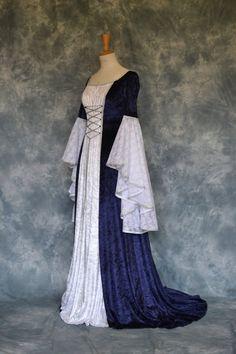 Lilith, a Medieval, Elvish, Pagan Custom Made Handfasting Dress