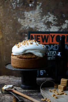 All Maple Syrup Cake with Pecans | Somewhere over the Kitchen